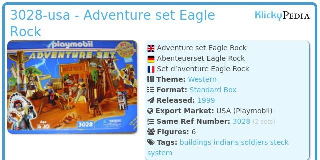 Playmobil 3028-usa - Adventure set Eagle Rock