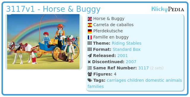 Playmobil 3117v1 - Horse & Buggy