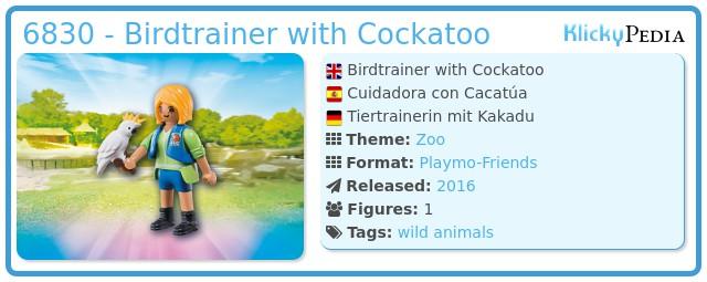 Playmobil 6830 - Birdtrainer with Parrot