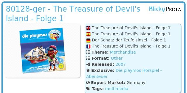 Playmobil 80128 - The Treasure of Devil's Island (1) - CD