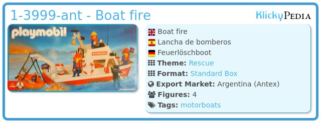 Playmobil 1-3999-ant - Boat fire