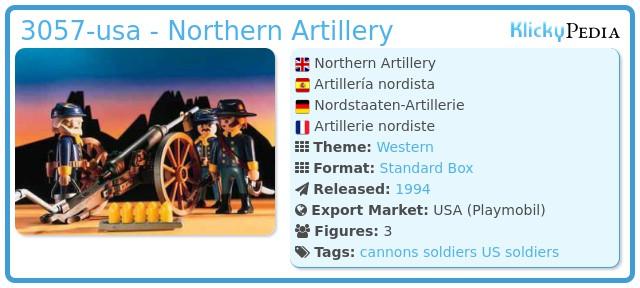 Playmobil 3057-usa - US Artillery