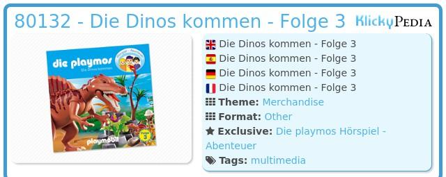 Playmobil 80132 - Dinosaurs come (3) - CD