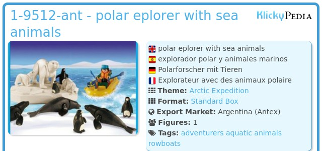 Playmobil 1-9512-ant - polar eplorer with sea animals