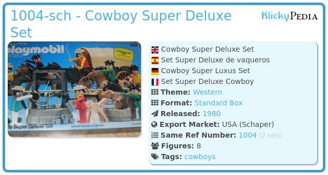 Playmobil 1004-sch - Cowboy Super Deluxe Set