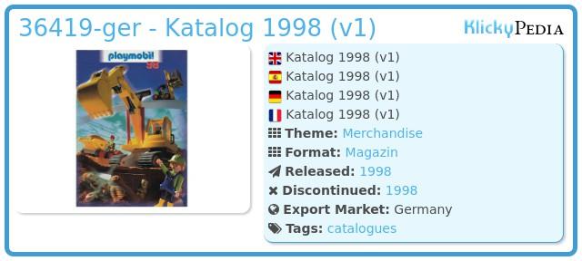 Playmobil 36419-ger - Katalog 1998 (v1)
