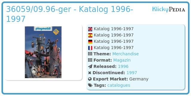 Playmobil 36059-ger - Katalog 1996 / 1997