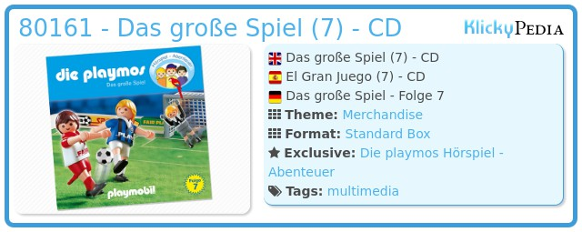 Playmobil 80161 - Das große Spiel (7) - CD