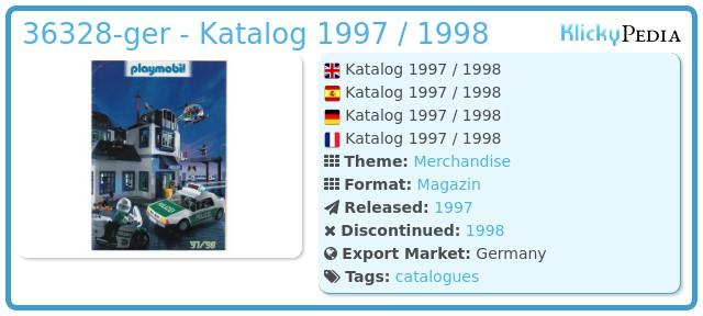 Playmobil 36328-ger - Katalog 1997 / 1998