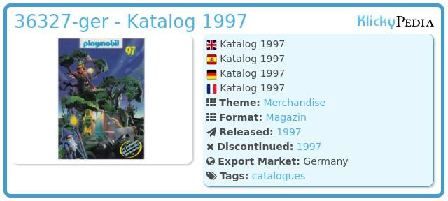 Playmobil 36327-ger - Katalog 1997