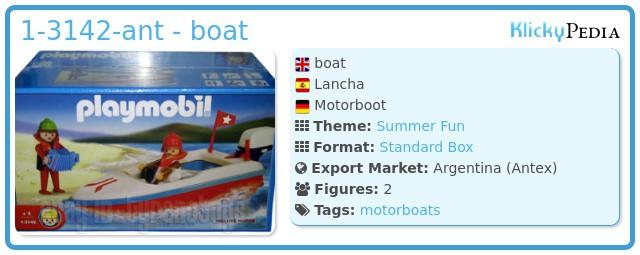 Playmobil 1-3142-ant - boat