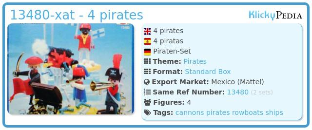 Playmobil 13480-xat - 4 pirates