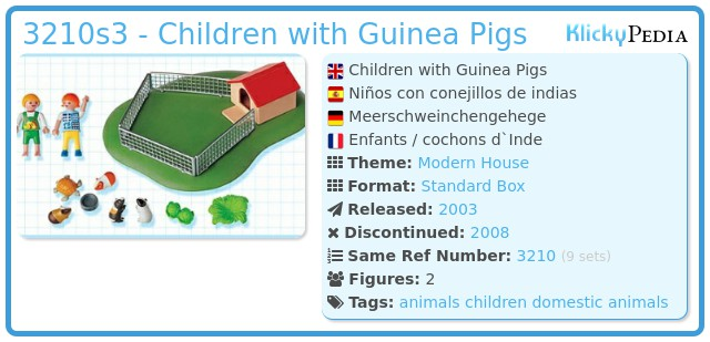 Playmobil 3210s3 - Children with Guinea Pigs