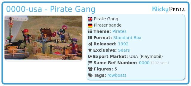 Playmobil 47.N-15474-usa - Pirate Gang