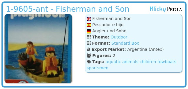 Playmobil 1-9605-ant - Fisherman and Son