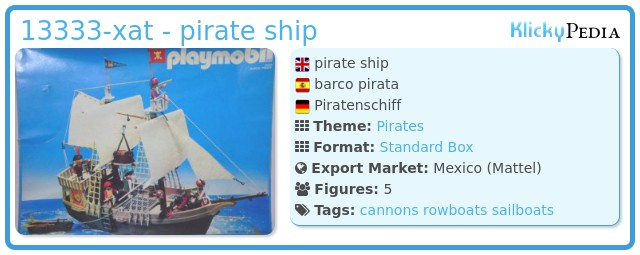 Playmobil 13333-xat - pirate ship