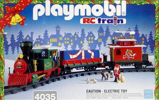 Playmobil set 4035 christmas train klickypedia - Train playmobil ...
