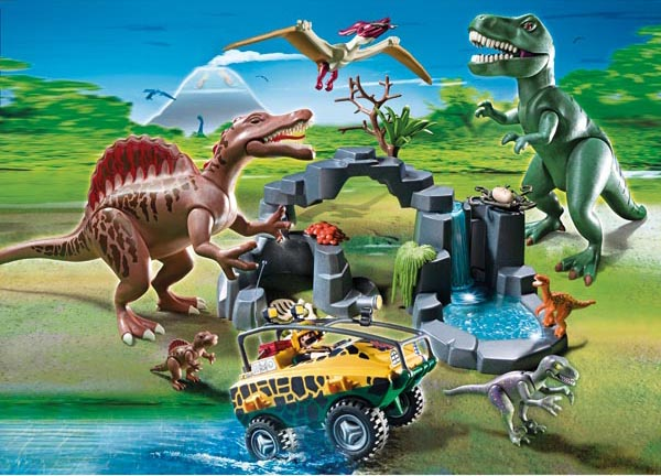 Playmobil set 5019 ger dino expedition with amphibious - Dinosaur playmobile ...