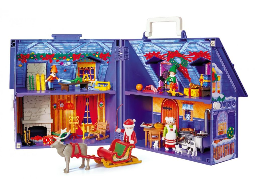 Playmobil set 3517s2 maison du papa noel klickypedia for Photos maison playmobil