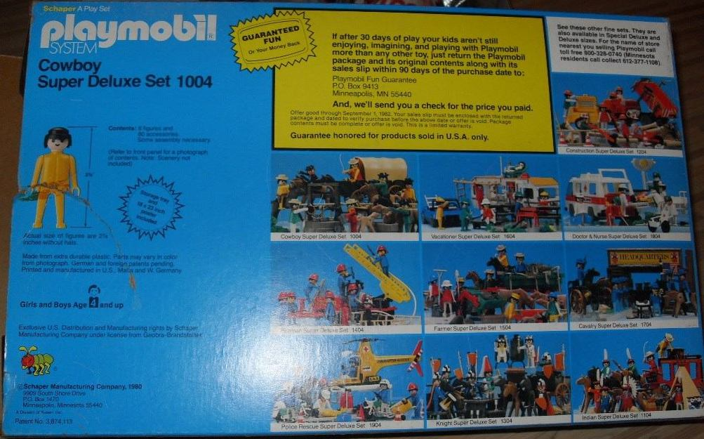 Playmobil 1004-sch - Cowboy Super Deluxe Set - Back