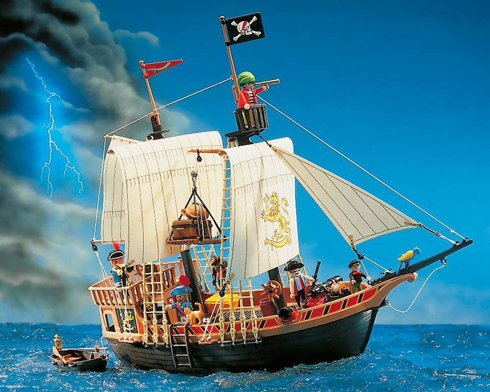playmobil set 3750v1 pirate ship klickypedia. Black Bedroom Furniture Sets. Home Design Ideas