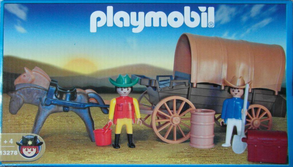 Playmobil 13278v1-ant - Covered Wagon - Box