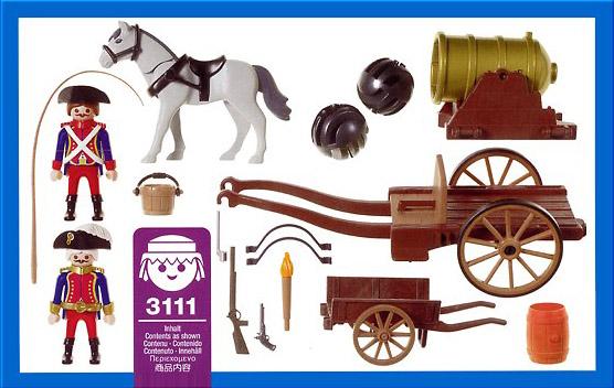 "Playmobil 3111s2 - cannon ""dicke berta"" - Back"