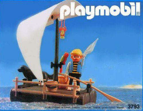 Playmobil 3793 - pirate / raft (white sail) - Box