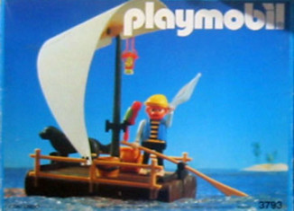 Playmobil - 3793-ant - pirate / raft (white sail)