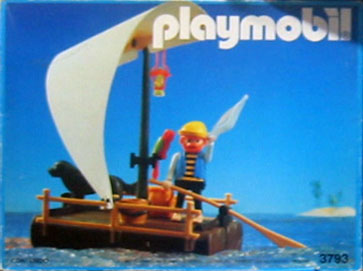 Playmobil 3793-ant - pirate / raft (white sail) - Box
