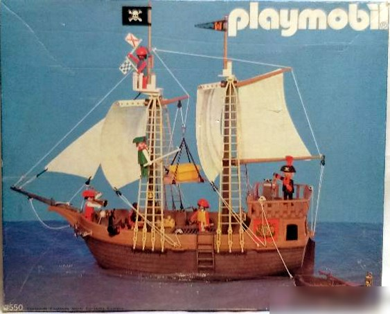 Playmobil set 3550 esp pirate ship klickypedia for Barco pirata playmobil