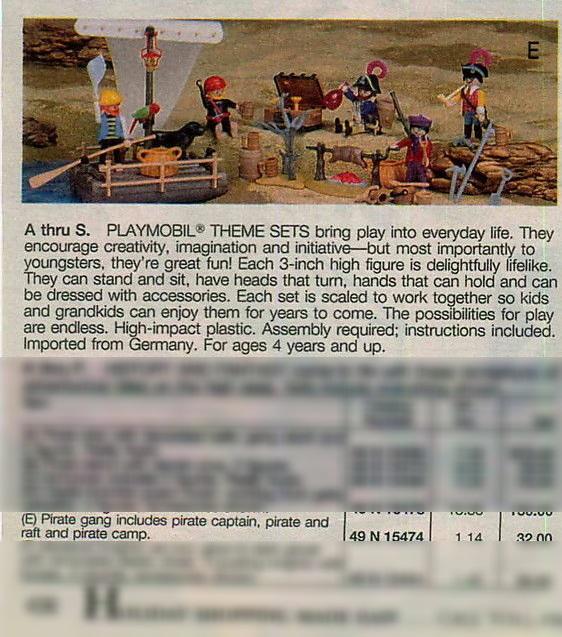 Playmobil 47.N-15474-usa - Pirate Gang - Box