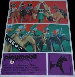 Playmobil 3132 - Horses for Indians and Knights - Box