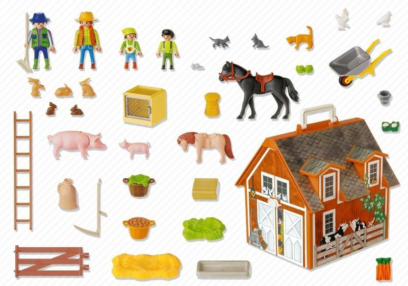 Playmobil Take Along Farm my Take Along Farm Back