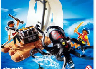 Playmobil - 4291 - raft with giant octopus