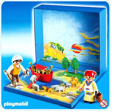 Playmobil set 4332 noah s ark micro world klickypedia for Micro playmobil
