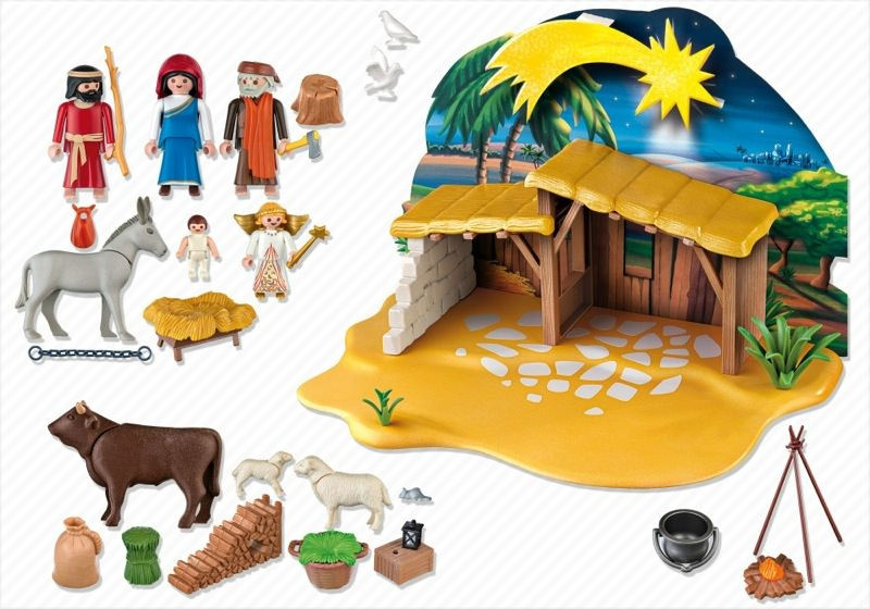 playmobil set 4884 nativity manger with stable. Black Bedroom Furniture Sets. Home Design Ideas