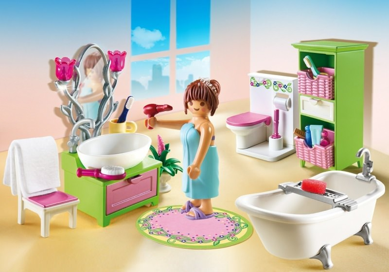 Set De Baño Romantic:Playmobil Dollhouse Bathroom