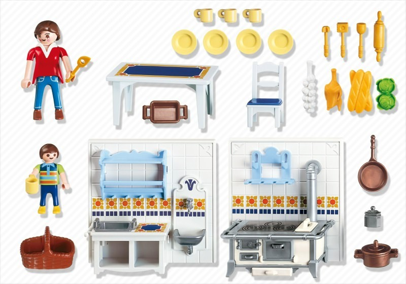Playmobil set 5317 kitchen klickypedia for Kitchen set rate