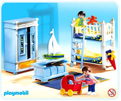 Playmobil set 5328 kids 39 room klickypedia for Playmobil living room 4282