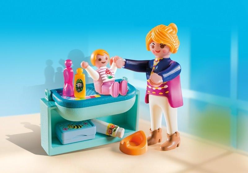 Playmobil Set 5368  Mutter mit Baby Wickeltisch