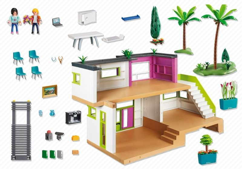Playmobil Set 5574 Modern Luxury Mansion Klickypedia