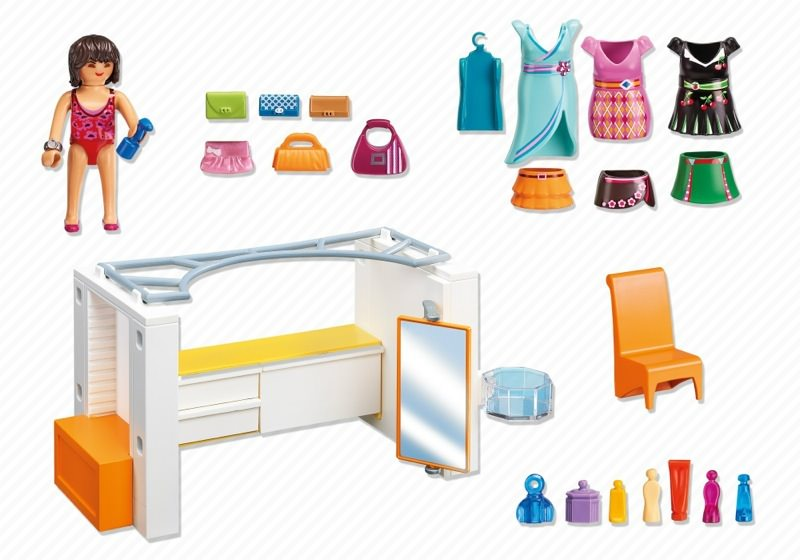 Playmobil set 5576 modern dressing room klickypedia