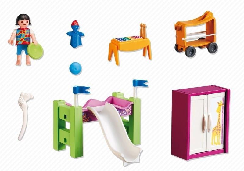 Playmobil set 5579 kinderzimmer mit hochbett rutsche for Kinderzimmer playmobil