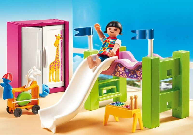 playmobil set 5579 kinderzimmer mit hochbett rutsche. Black Bedroom Furniture Sets. Home Design Ideas