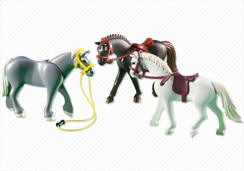 Playmobil set 6257 3 horses ii klickypedia - Pferde playmobil ...