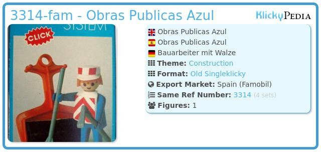 Playmobil 3314-fam - Obras Publicas Azul