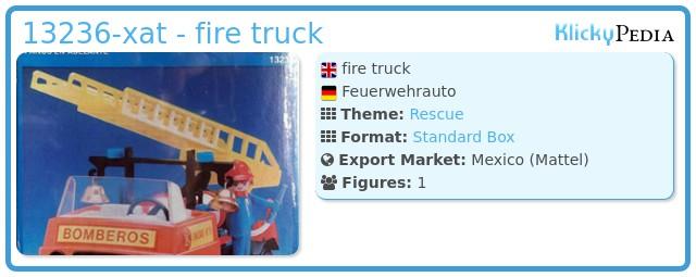 Playmobil 13236-xat - fire truck