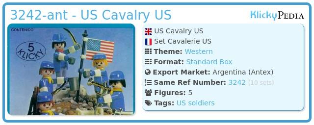 Playmobil 3242-ant - US Cavalry US