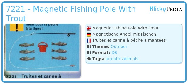 Playmobil 7221 - Magnetic Fishing Pole With Trout